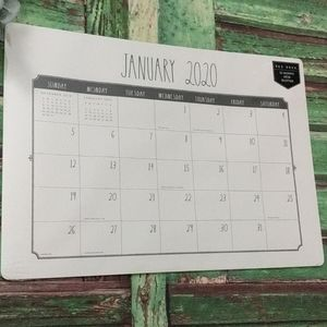 Rae Dunn 2020 Extra Lg 12 Month Desk